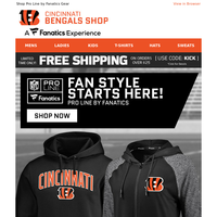 Define Your Bengals Fan Style & Get Free Shipping