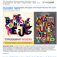 50 Creative Typography Designs and illustrations for your inspiration - Part 3 & 1 items