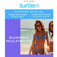 Summer Multibuys | FROM 2 FOR $60 ☀️