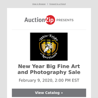 New Year Big Fine Art and Photography Sale |  White Knight Auctions