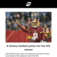 💪Fantasy XFL Primer, Projections and DFS Picks