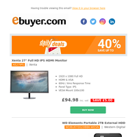 """Less than £100 for 27"""" FHD IPS HDMI Monitor. Don't miss this."""
