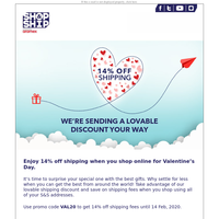 Shop Online For This Valentines Using This Discount