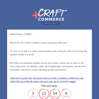 [VIDEO] Why Pat Flynn comes back to Craft + Commerce year after year...