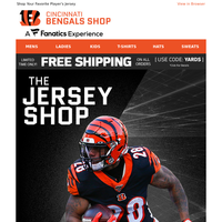 Who's Next on Your Roster? Free Shipping on Bengals Jerseys