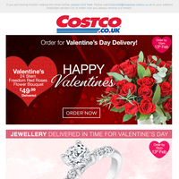 Don't forget! Valentine's Day is around the corner ❤️ Treat them with Jewellery & Flowers