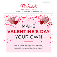 Psst... You're Getting Discounts on Valentine's Day Décor!