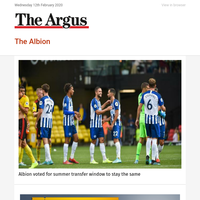 The Albion: Albion voted for summer transfer window to stay the same