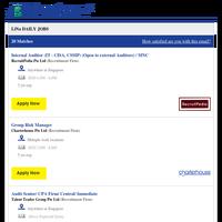 Internal Auditor (IT - CISA, CSSIP) (Open to external Auditors) / MNC + 19 new jobs - Job Alert from JobStreet.com
