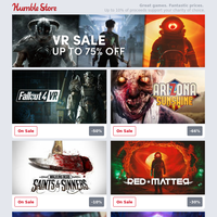 Don't miss out on VR essentials this weekend! Save up to 75% off VR games on the Humble Store + Wolcen: Lords of Mayhem v1.0 out now!