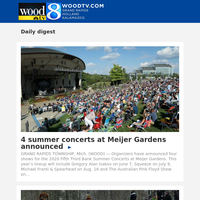 4 summer concerts at Meijer Gardens announced (14 February 2020, for {EMAIL})