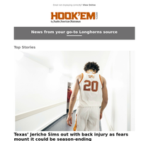 Texas' Jericho Sims out with back injury as fears mount it could be season-ending