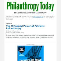 David Rubenstein on the Untapped Power of Patriotic Philanthropy