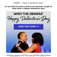 ❤ Happy Valentines Day to the Obamas! ❤