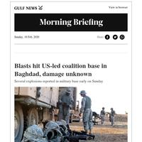 Blasts hit US-led coalition base in Baghdad, damage unknown;  Saudi fighter jet crashes in Yemen: coalition