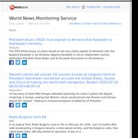 World News (Sun 16 Feb 2020)