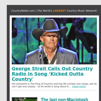 George Strait Calls Out Country Radio In Song 'Kicked Outta Country'