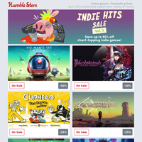 Save up to 90% off chart-topping Indie hits on the Humble Store + Pick up the Street Fighter V - Champion Edition!