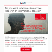 Discover the  MSc in Management – European Triple Degree – Grande Ecole