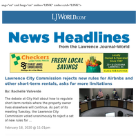 LJWorld.com Headlines for February 19, 2020