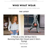 3 trends a chic 64-year-old is banning (and 3 she's trying)