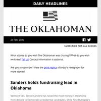 Morning headlines from The Oklahoman: Sunday, Feb. 23, 2020