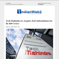 Tech Mahindra to Acquire Zen3 Infosolutions for Rs 460 Crores and More