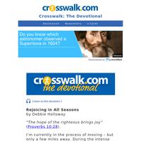 Rejoicing in All Seasons - Crosswalk the Devotional - February 26
