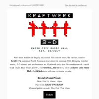 Exclusive Presale: Kraftwerk 3-D at Radio City Music Hall