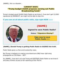 Trump GUTS Public Radio (NO!!)