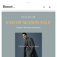 End of Season Sale: Up to 70% OFF autumn and winter styles!
