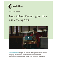 How AdHoc Presents grew their audience by 93%
