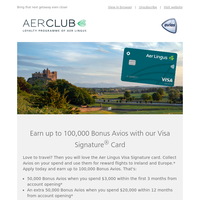 100,000 Bonus Avios with our travel credit card
