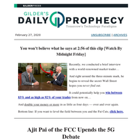 Ajit Pai of the FCC Upends the 5G Debate