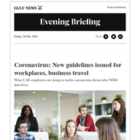 Coronavirus: New guidelines for workplaces, travel