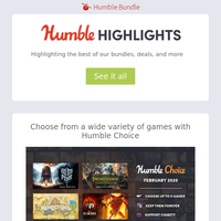 This week at Humble: Last week for Feb. Choice, anime games and Deep Silver sales, and more!