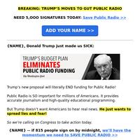 Washington Post: Trump CANCELS New York public radio (WHAT??)