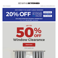 ***EXCLUSIVE: a 20% offer is here for you! Up to 50% OFF window clearance + 30% OFF these curtains!