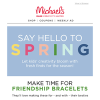 Now Blooming: Fresh Inspiration for Kids' Spring Crafting!