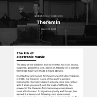 Theremin: Play but don't touch