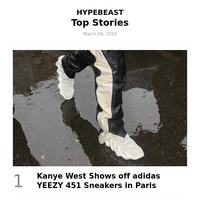 This Week's Top Stories: Kanye West Shows off adidas YEEZY 451 Sneakers in Paris and More