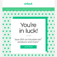 Lucky You! Our St. Patrick's Day Sale Just Started.