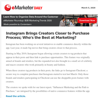 Instagram Brings Creators Closer to Purchase Process; Who's the Best at Marketing?