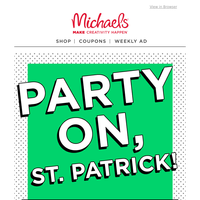 You Lucked Into St. Patrick's Day Deals!