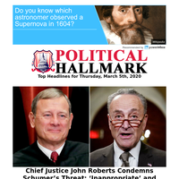 Chief Justice John Roberts condemns Schumer's latest threats...