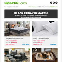 ⇨⇨ Black Friday in March ⇦⇦ Up to 80% Off Doorbusters!