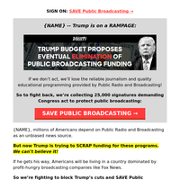 {NAME}: Sign to Save Public Broadcasting