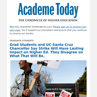 Academe Today: UC-Santa Cruz Strike Will Have Impact on All of Higher Ed