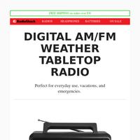RadioShack Digital AM/FM Weather Radio
