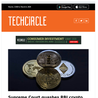 Supreme Court puts cryptocurrencies back on track; What PayU India is betting on next; IT services firms and coronavirus; Deals and dealmakers this week